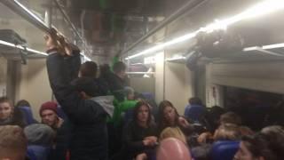 Бориспольский экспресс снова сломался. Салон поезда наполнился дымом