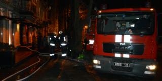 Неизвестные подожгли кафе с посетителями в самом центре Днепра