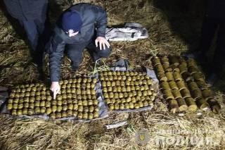 Три мешка боевых гранат нашел под кустом житель Хмельницкой области