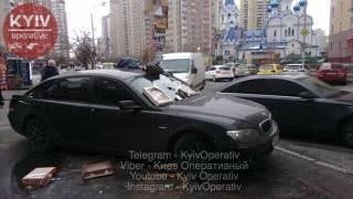 Киевляне забросали мусором крутую машину известного шоумена