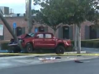 В Калифорнии молодой наркоман на пикапе протаранил пешеходов