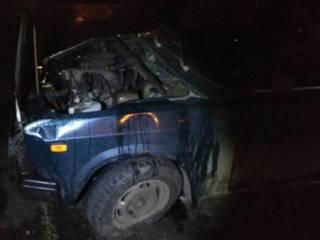 В Николаевской области из-за диких ям на дороге перевернулся автомобиль