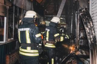 На одном из киевских рынков произошел большой пожар