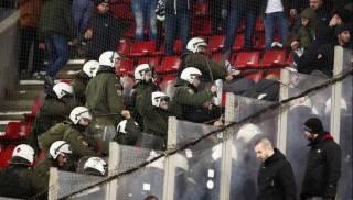 Греческая полиция избила киевских фанатов на матче «Олимпиакос» — «Динамо»