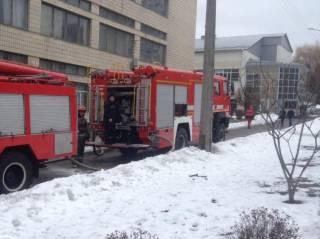 В столице горело здание Национального авиационного университета