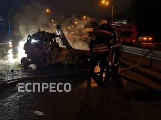 Под Киевом заживо сгорела пассажирка Daewoo Lanos