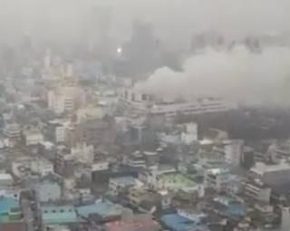 В Корее вспыхнула баня с десятками клиентов внутри