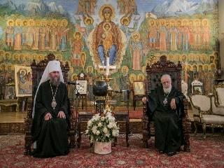 Митрополит Антоний обсудил с Патриархом Грузии церковную ситуацию в Украине