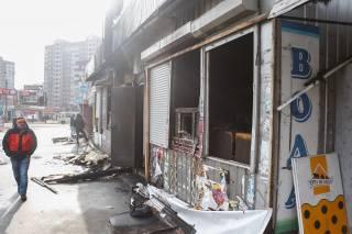 Ночью на киевской окраине горели МАФы