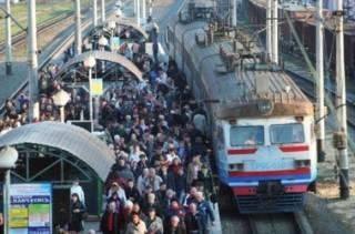 В Киеве отменили утренние рейсы городской электрички