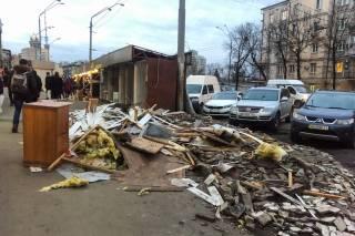 На Шулявке в Киеве снесли МАФы