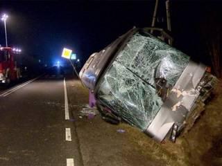 В Польше колесо фуры пробило «лобовуху» автобуса с украинцами