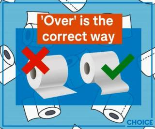 Австралийцы обнаружили правильный способ использования рулона туалетной бумаги