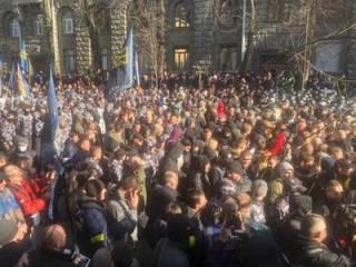 Митинг Нацкорпуса в Киеве перерос в драку с полицией