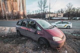 В Киеве произошло необычное ДТП
