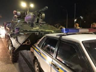 В Киеве произошло ДТП с БТР