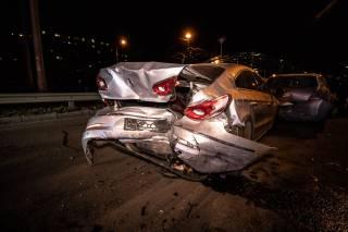 Масштабное ДТП в Киеве: столкнулись сразу четыре авто
