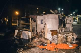 Ночью на одной из киевских строек вспыхнул пожар