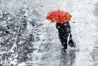 Весеннюю погоду в Киеве внезапно сменил снег