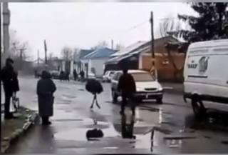 На Хмельнитчине агрессивный алкоголик терроризирует все село... страусом
