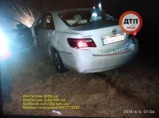 Под Киевом прямо на ходу взорвался автомобиль