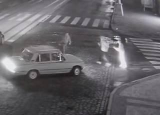 В Виннице таксист подрался с пешеходами