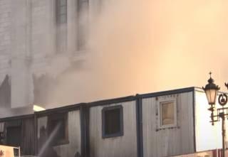 В Москве горел храм Христа Спасителя