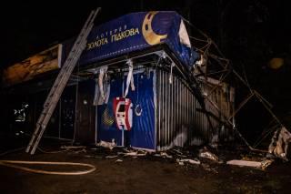 В Киеве горел лотерейный МАФ