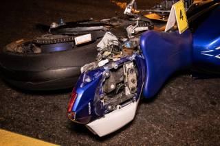 ДТП в Киеве: столкнулись два мотоцикла