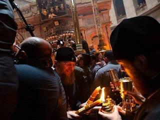 Благодатный огонь-2019 для Украины и благословение Патриарха Иерусалимского от Святого Гроба