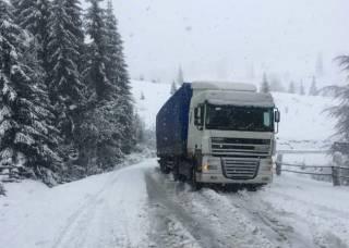 В Украине выпал майский снег