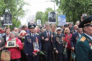 Вадим Новинский прошел в рядах «полка Победы» в Киеве