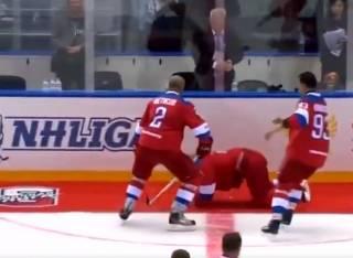 В Сети появилось видео падения Путина
