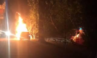 В Киеве сожгли автомобиль известного журналиста
