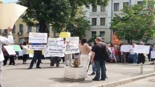 Возле Софии Киевской сторонники Филарета устроили пикет