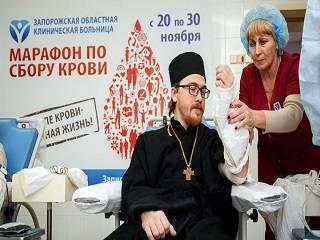 В УПЦ проводят акцию ко Всемирному дню донора «Капля сильной крови»