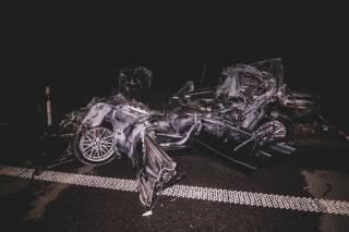Под Киевом произошло огненное ДТП: BMW на огромной скорости влетел в фуру