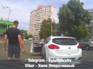 В Киеве вооруженные «беспредельщики» хулиганили на дороге