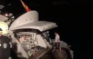 Появилось видео спасения Владимира Кличко с горящей яхты в открытом море