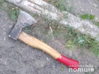 В Василькове полицейского едва не зарубили топором