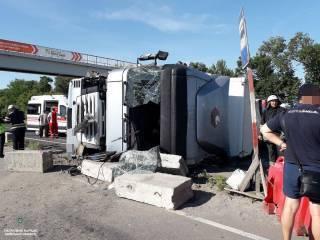 В сеть попало видео крупного ДТП на Одесской трассе