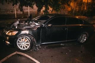 В Киеве взорвался элитный автомобиль