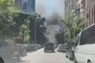 На стройке в Киеве вспыхнул пожар