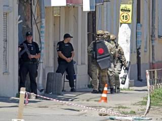 Появилось видео спецоперации по освобождению заложников в Одессе