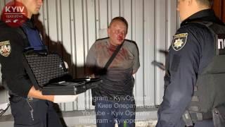 В Киеве пьяный водитель помял 5 машин, после чего с ножом бросался на людей
