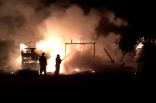 В Киеве сгорело кафе. Не исключен поджог