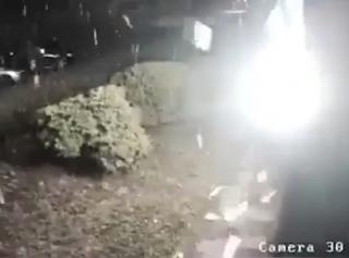 Обстрел телеканала «112» из гранатомета попал на видео