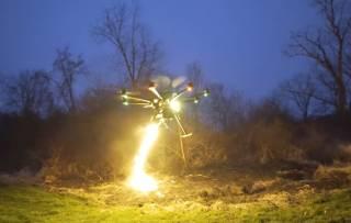 Американцы показали испытание «огненного» беспилотника для… сельского хозяйства