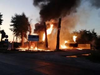 Под Киевом сгорела заправка – пострадал человек