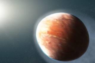Астрономы показали «горящую» планету-яйцо